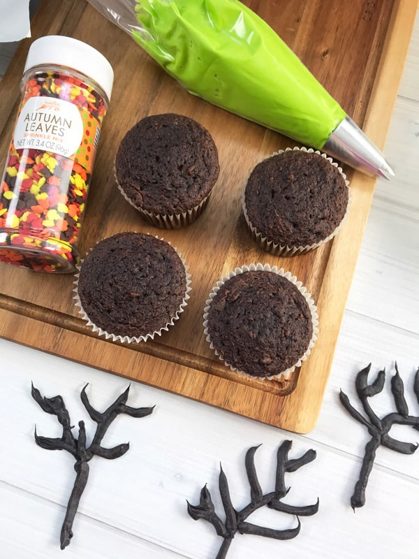 Ingredients for Halloween Fairy Cakes to decorate with the kids