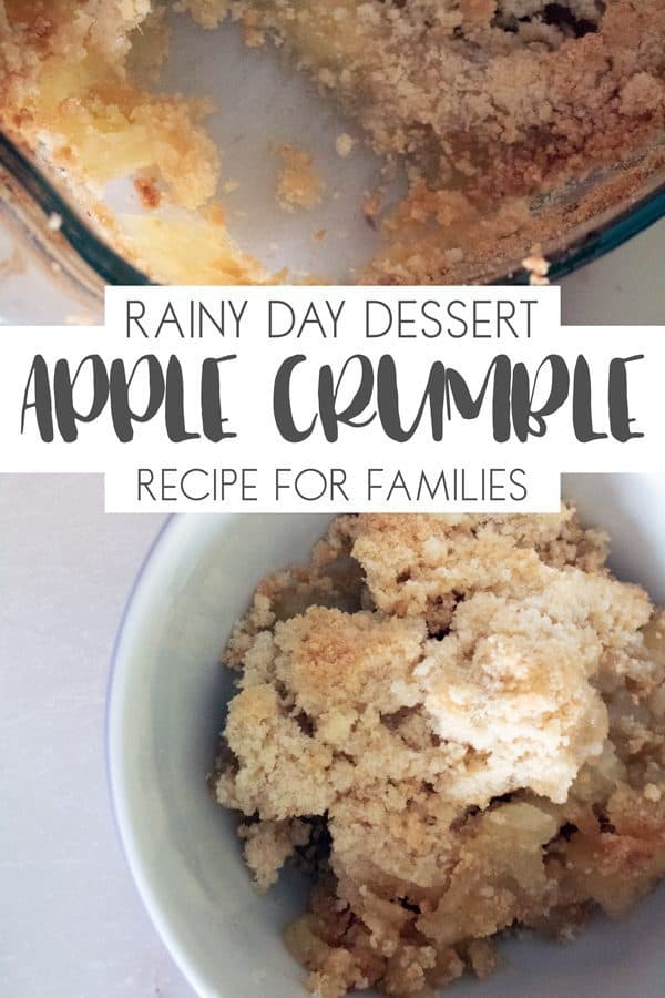 Delicious traditional rainy day and comfort dessert for family meals. This easy apple crumble recipe is quick to make and tastes amazing.