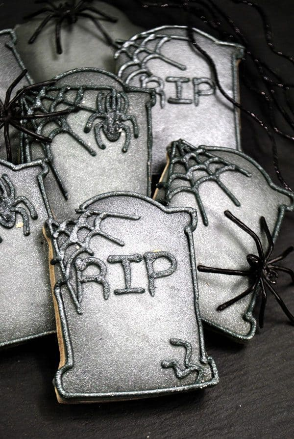 Tombstone Cookies for Halloween perfect for class treats