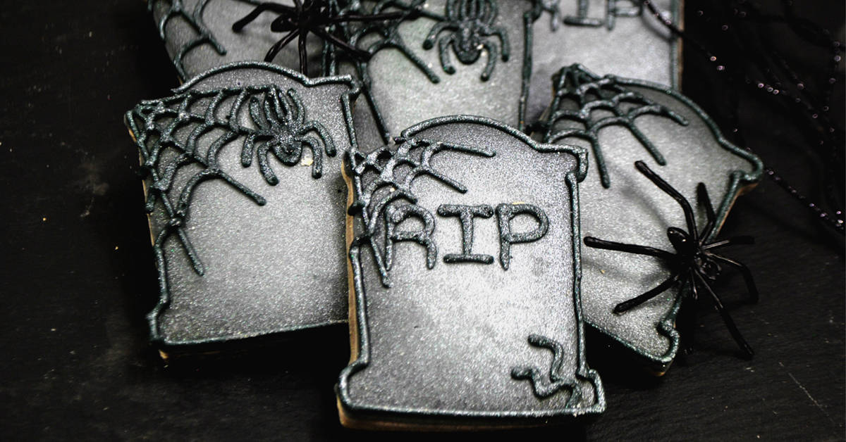 East To Decorate Tombstone Sugar Cookie Recipe And Instructions