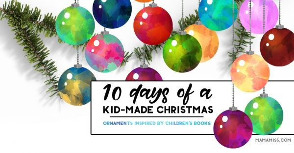 10 days of Kids Ornaments Inspired by Books