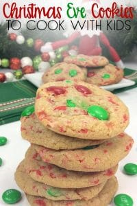 Christmas Eve Cookies to Cook with Kids. Simple recipe for easy cookies made with vanilla pudding and sprinkles