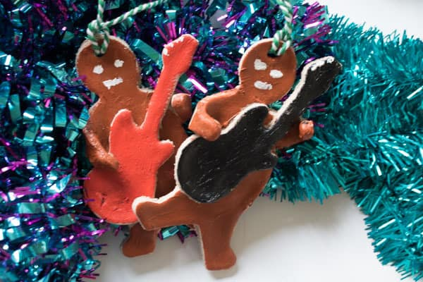 Salt dough Gingerbread Ornaments for the Christmas Tree a Fun Craft for Christmas Inspired by Nativity Rocks!