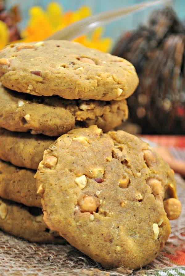 butterbeer and pumpkin harry potter inspired cookies