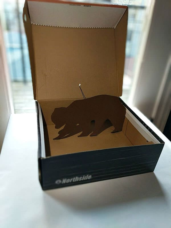 Technology project for kids inspired by Bears Stays up Late for Christmas to create a Pop-Up Bear