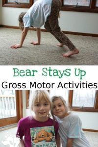 Gross and Large Motor Activities for Kids inspired by the book Bear Stay Up for Christmas by Karma Wilson