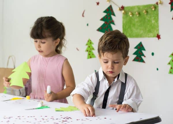 Kids Making Christmas Crafts
