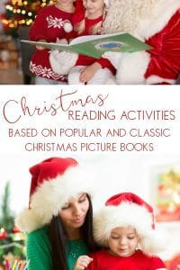 christmas reading activities for kids based on popular and classic christmas picture books