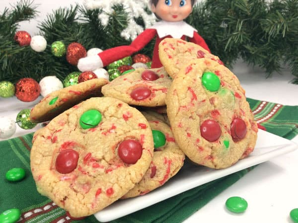 Cookies for Santa on Christmas Eve with Elf on the Shelf