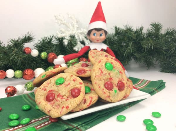Elf on the Shelf with Christmas Eve Cookies for Santa and his Elves