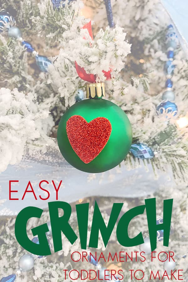 Easy Grinch Ornament Craft for Toddlers