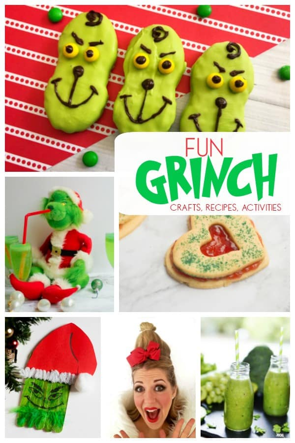 fun grinch crafts recipes and activities for kids