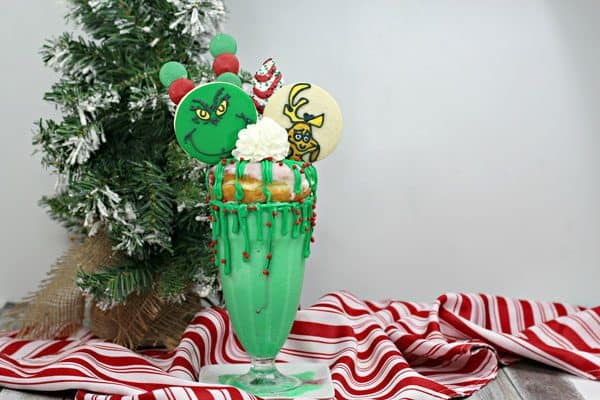 Fun Freakshake inspired by the book and movie How the Grinch Stole Christmas
