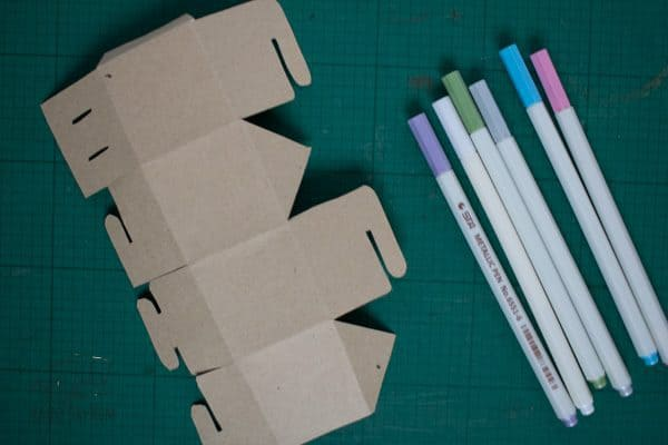 gingerbread house box template ready to decorate