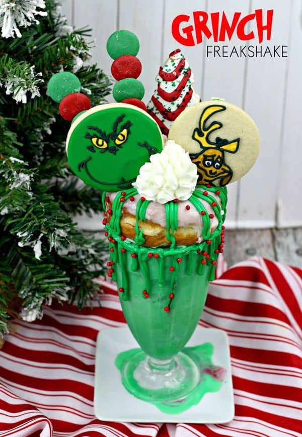 Fun Gloriously Green Christmas Grinch Freakshake Recipe