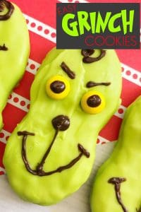 How the Grinch Stole Christmas Cookies - Easy Decorating for kids to make. Fun food for Christmas Parties and Movies Time.