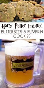 Harry Potter Inspired Butterbeer and Pumpkin Pie flavoured cookies with chopped walnuts. A delicious treat for all Harry Potter Fans