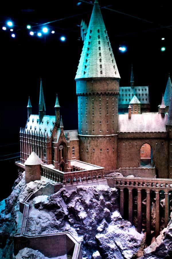 hogwarts in the snow at the making of harry potter london