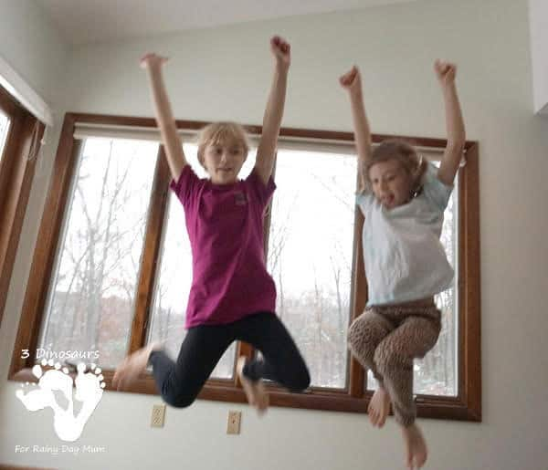 Jumping High kids movement activities for keeping active in winter
