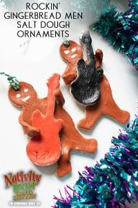 Gingerbread Salt Dough Rockin' Gingerbread Men Ornaments for Kids to Make for the Christmas Tree