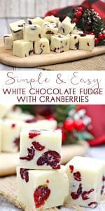 White Chocolate and Cranberry Fudge Recipe perfect for cooking with kids and makes an ideal edible gift for others