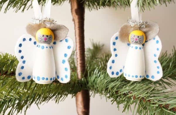 angel mice decorations to make with kids inspired by Merry Christmas Mouse for the Christmas Tree