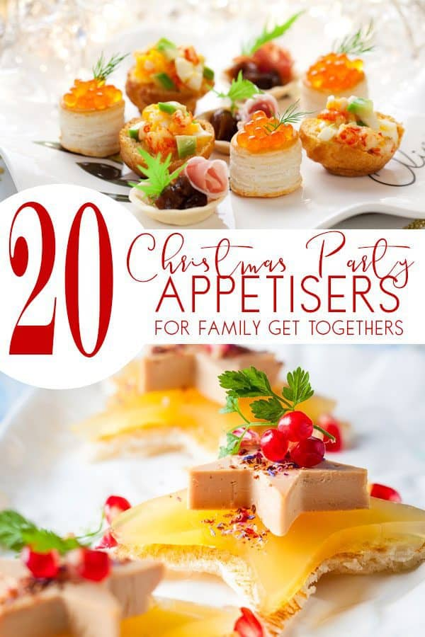 Christmas Party Appetisers for Families