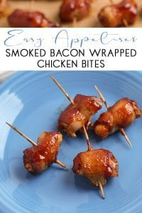 Easy Appetiser to make some smoked bacon wrapped chicken bites with BBQ sauce