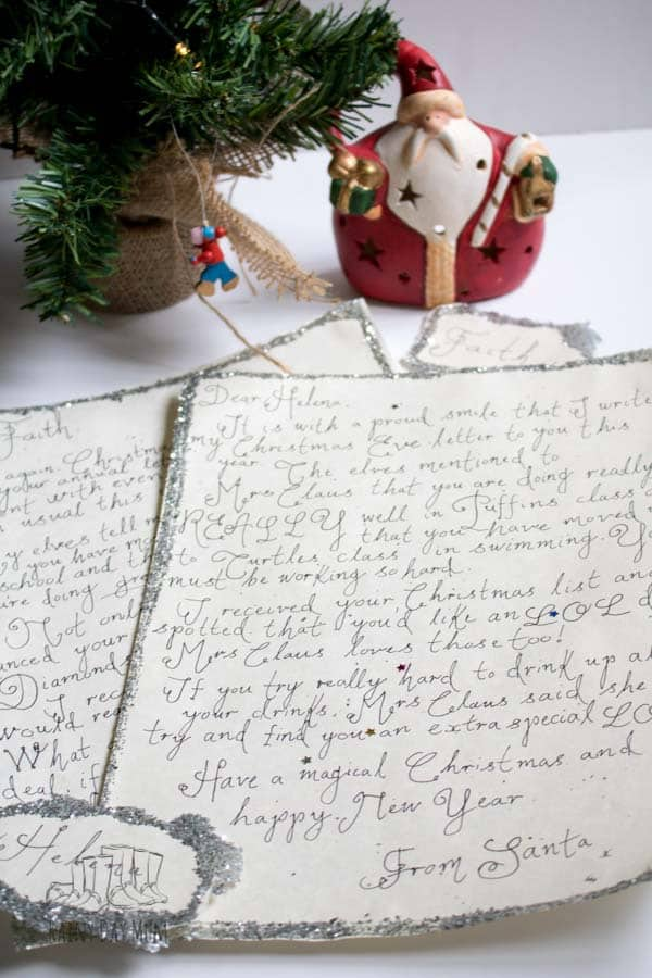 handwritten letters from santa that you can make at home to make memories each year with your child and start new traditions
