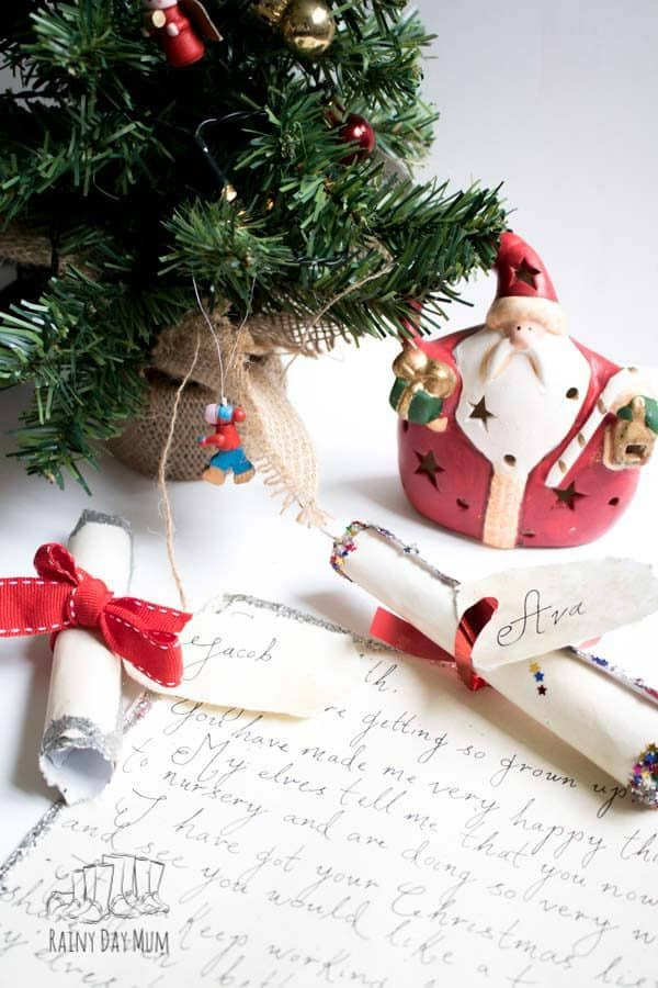 Create Christmas Traditions and Memories with your kids with a personalised letter from Santa or Father Christmas that you can make each year unique