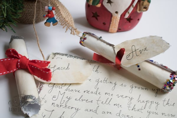 completed letters from santa that you can DIY at home and make Christmas a little more Magical this year