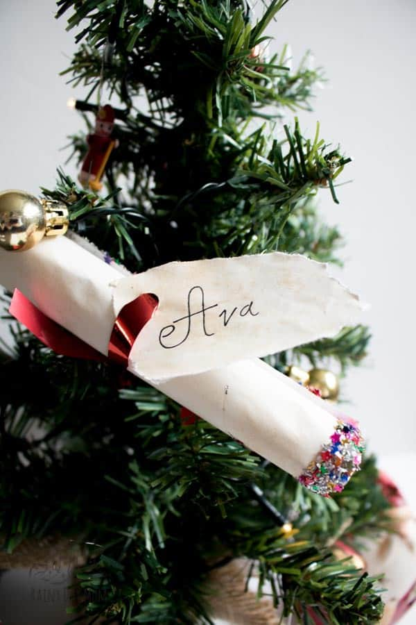 Handmade Letter from Santa hidden in the Christmas Tree a fun tradition for Christmas Eve to start with your kids
