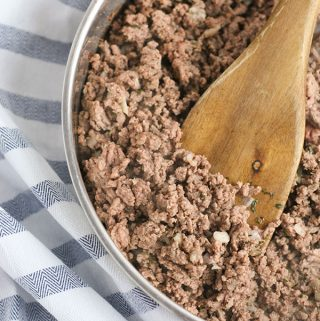 Italian Sausage meat browned in a pan cooked from scratch to use in American Recipes in the UK