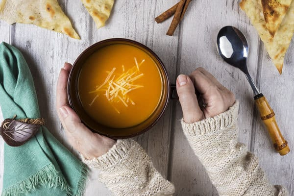 Delicious and easy soup to warm up after a wet school run