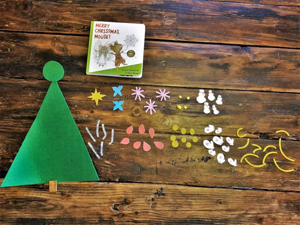 ornaments for a DIY Christmas tree to use to count to 10 and decorate along with Merry Christmas Mouse