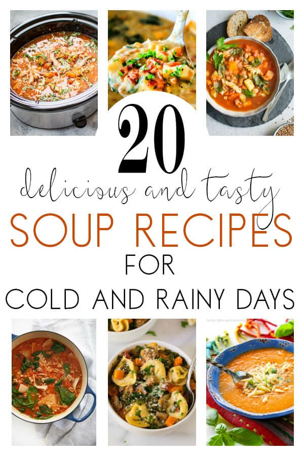 20 delicious and tasty soup recipes for cold and rainy days. Ideal to enjoy as a family from light lunches to hearty suppers.