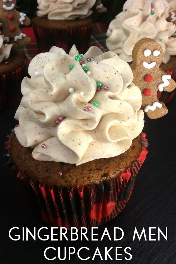 Gingerbread Men Cupcakes with Cinnamon Icing Recipe