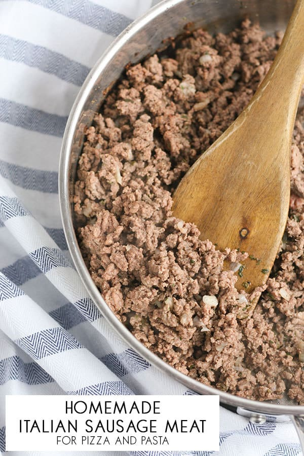 Simple recipe for homemade Italian Sausage that you can freeze and use in pasta and pizza dishes