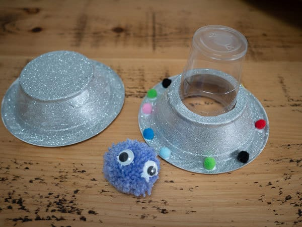 putting together your alien spaceship craft for kids