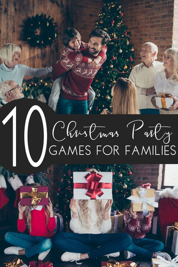 10 Silly Christmas Party Games for Families to play during the festive season.
