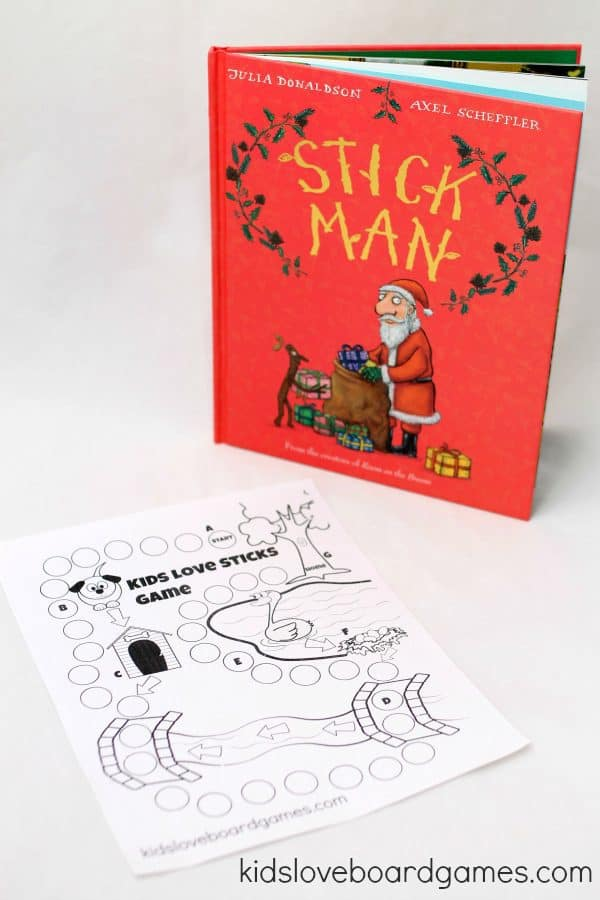 DIY Board game inspired by the book Stick Man by Julia Donaldson