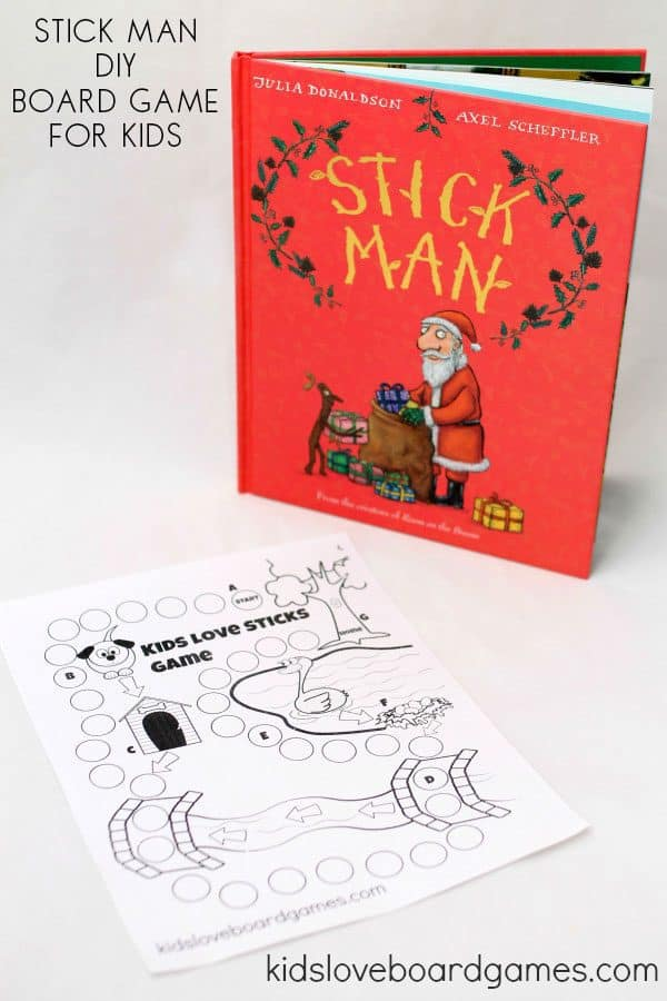 DIY Board Game and Stick Man Book for Toddlers and Preschoolers to play with you at home.