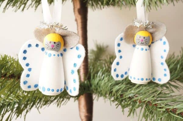 Mice Ornaments for the Christmas Tree to Make with Kids