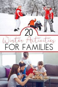20 simple winter activities indoors and out for families to do together this year