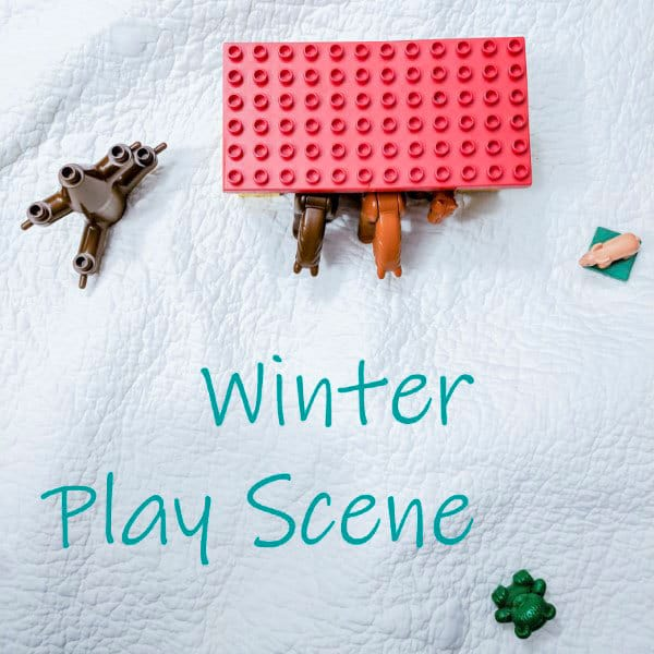 winter play scene for kids