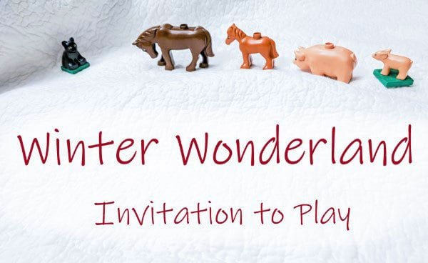 winter wonderland invitation to play for young kids