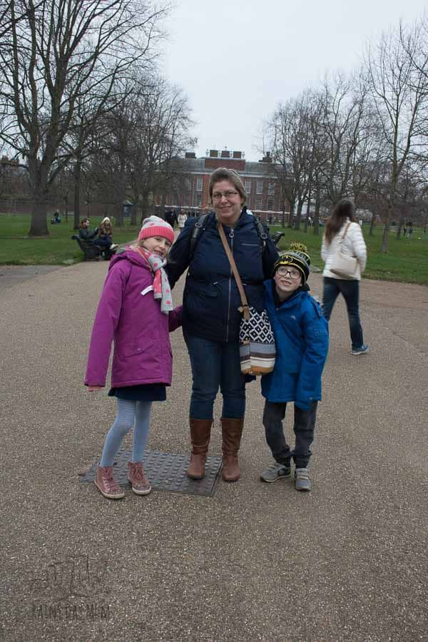 Kensington Gardens in the winter with kids - before heading to Royal Garden Hotel to rest and revive after a day visiting the museums