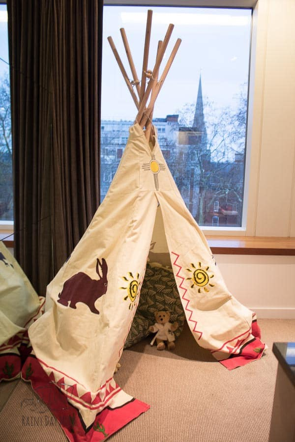 play tent in the Royal Garden Hotel London