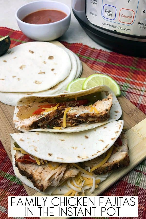 Instant Pot Kids Chicken Fajita Recipe