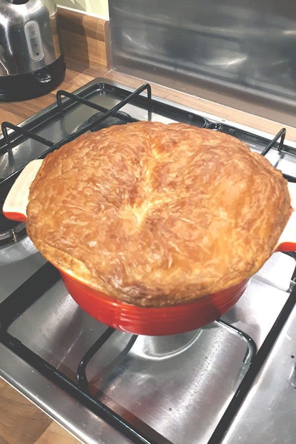Family Chicken Pie just out of the oven